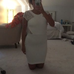 ZARA white dress with lace